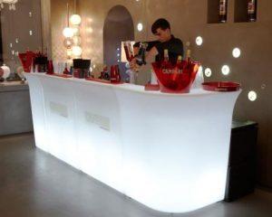 Noleggio Banconi Bar Luminosi per Eventi Roma