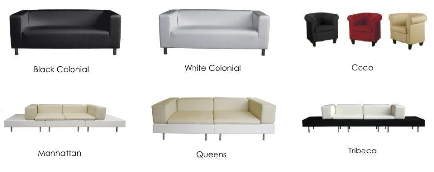 Noleggio divani eventi