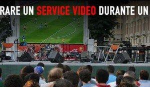 Strutturare un service video durante un evento