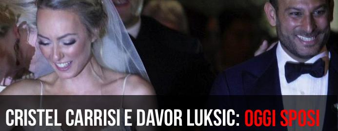 Il Matrimonio di Cristel Carrisi e Davor Luksic