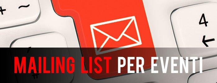 mailing list per eventi